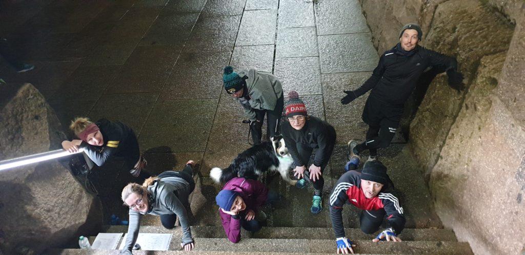 Gruppenfoto vom 6. Treppenlauf