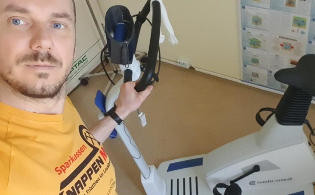 Stefan bei der sportärztlichen Untersuchung